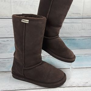 Bearpaw Brown Suede Sheepskin Wool lined 8